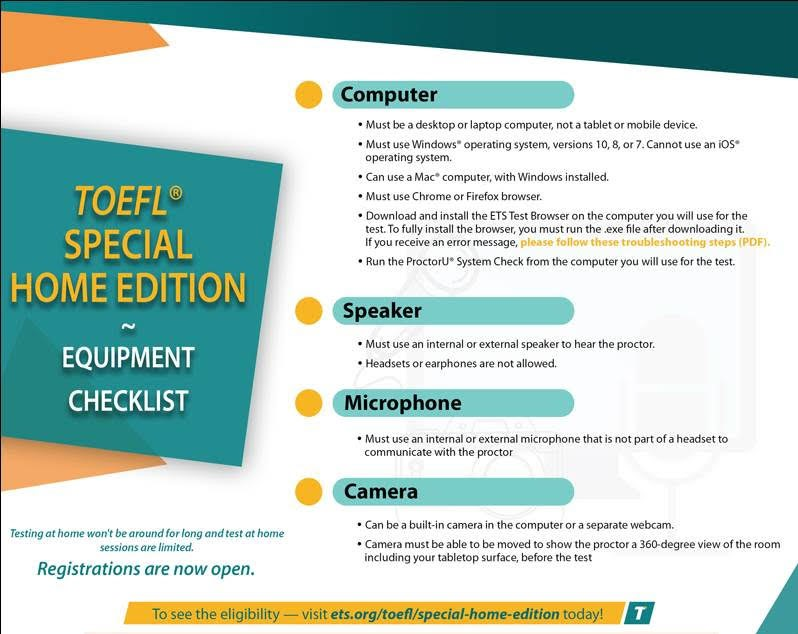 TOEFL Special Home Edition - An Online TOEFL Test from Home