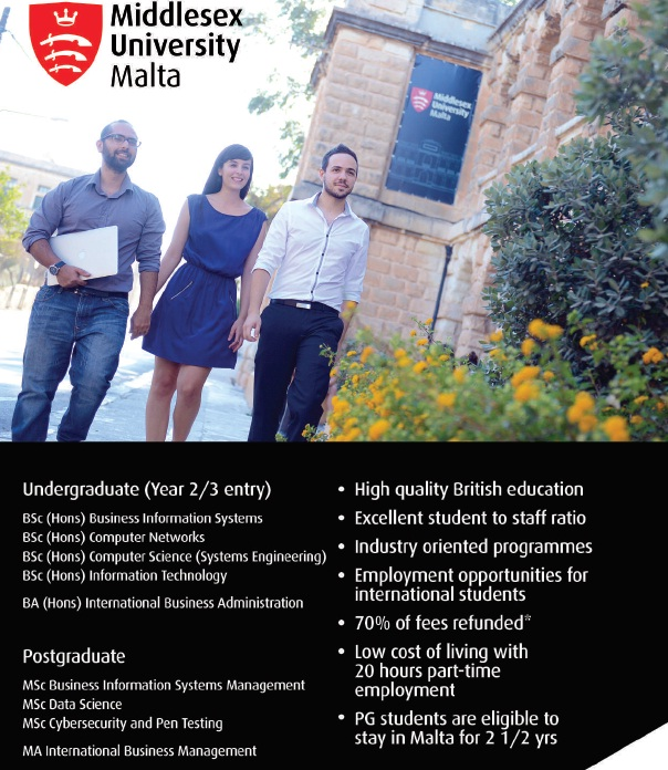 Why study in Middlesex University (MDX) Malta Campus