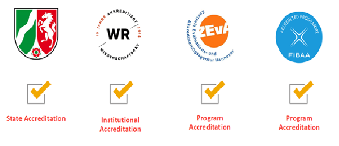 Official Accreditation of University of Applied Sciences Europe
